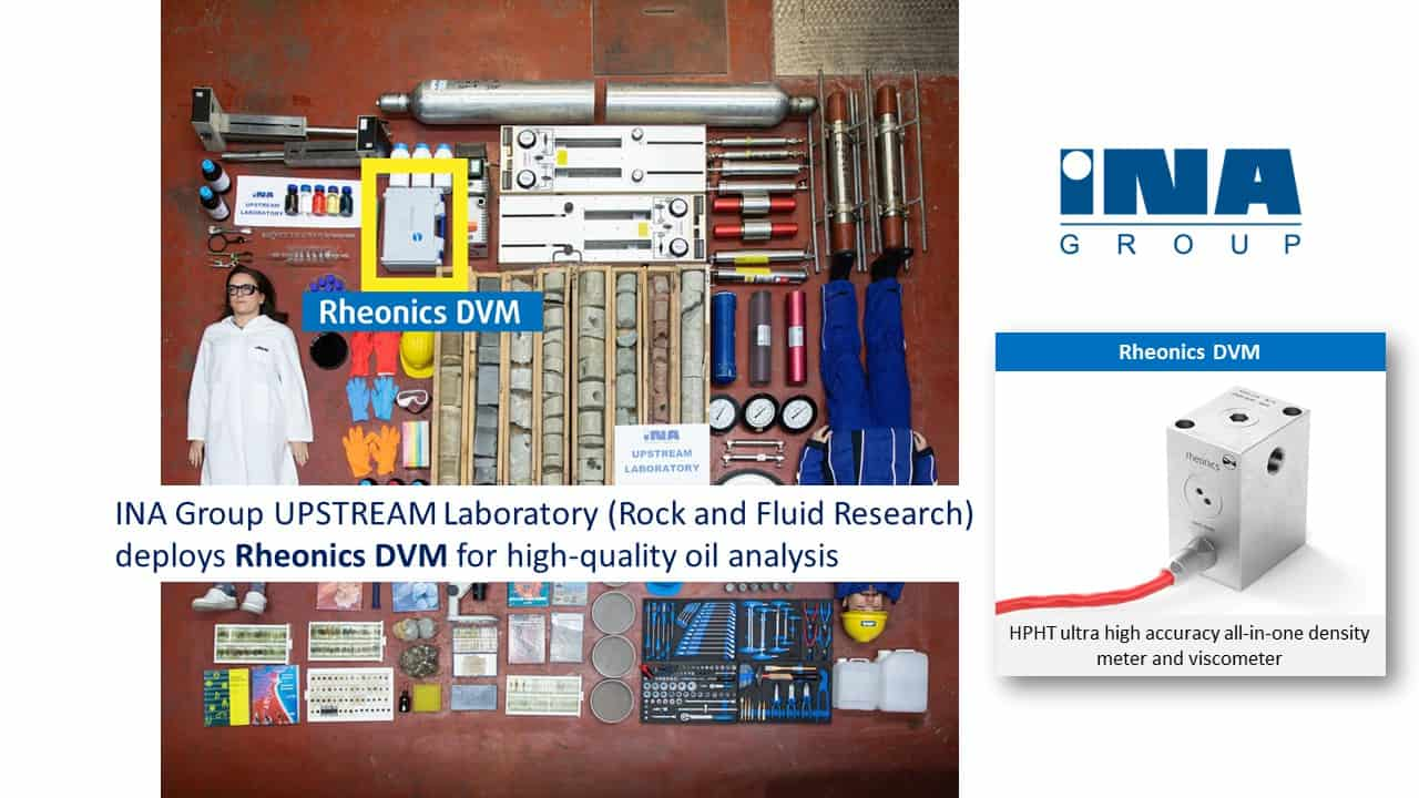 INA Group UPSTREAM Laboratory (Rock and Fluid Research) deploys Rheonics DVM for high-quality oil analysis