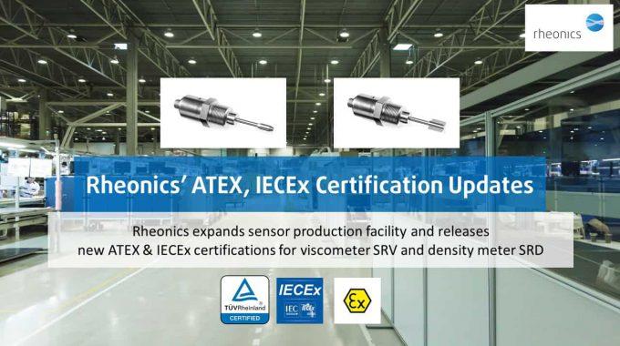 Rheonics EX Certified Sensors Iecex Atex2
