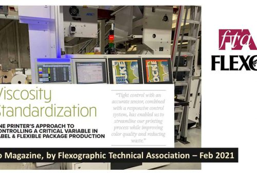 "FTA Flexo Magazine Features A Rheonics User Case Study – ""Viscosity Standardization: One Printer's Approach"""