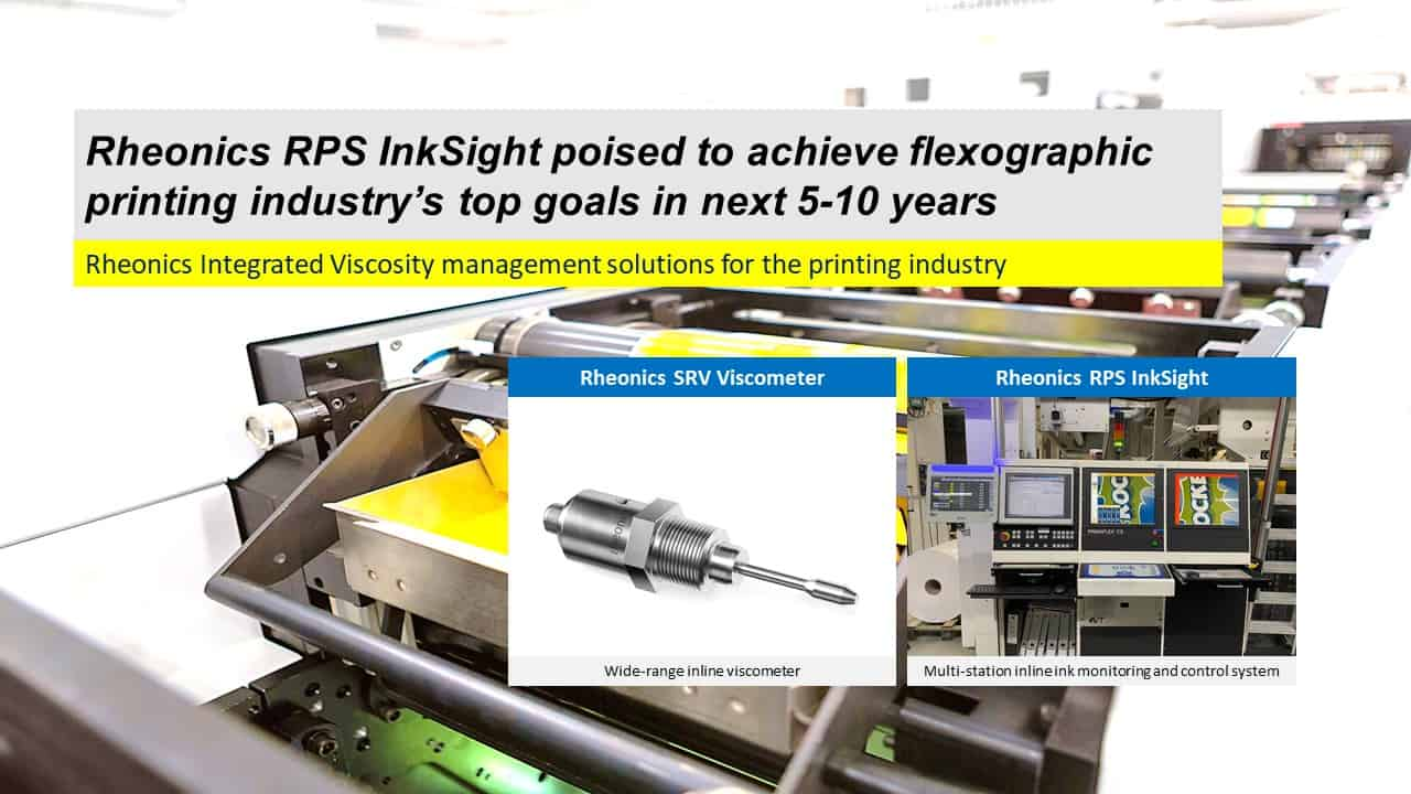 Rheonics RPS InkSight poised to achieve flexographic printing industry's top goals in next 5-10 years